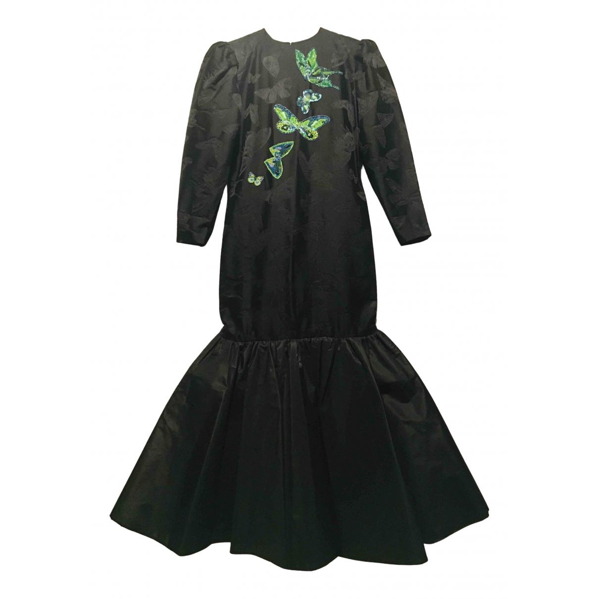 Hanae Mori \N Kleid in  Schwarz Seide