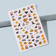 1sheet Halloween Pattern Nail Sticker