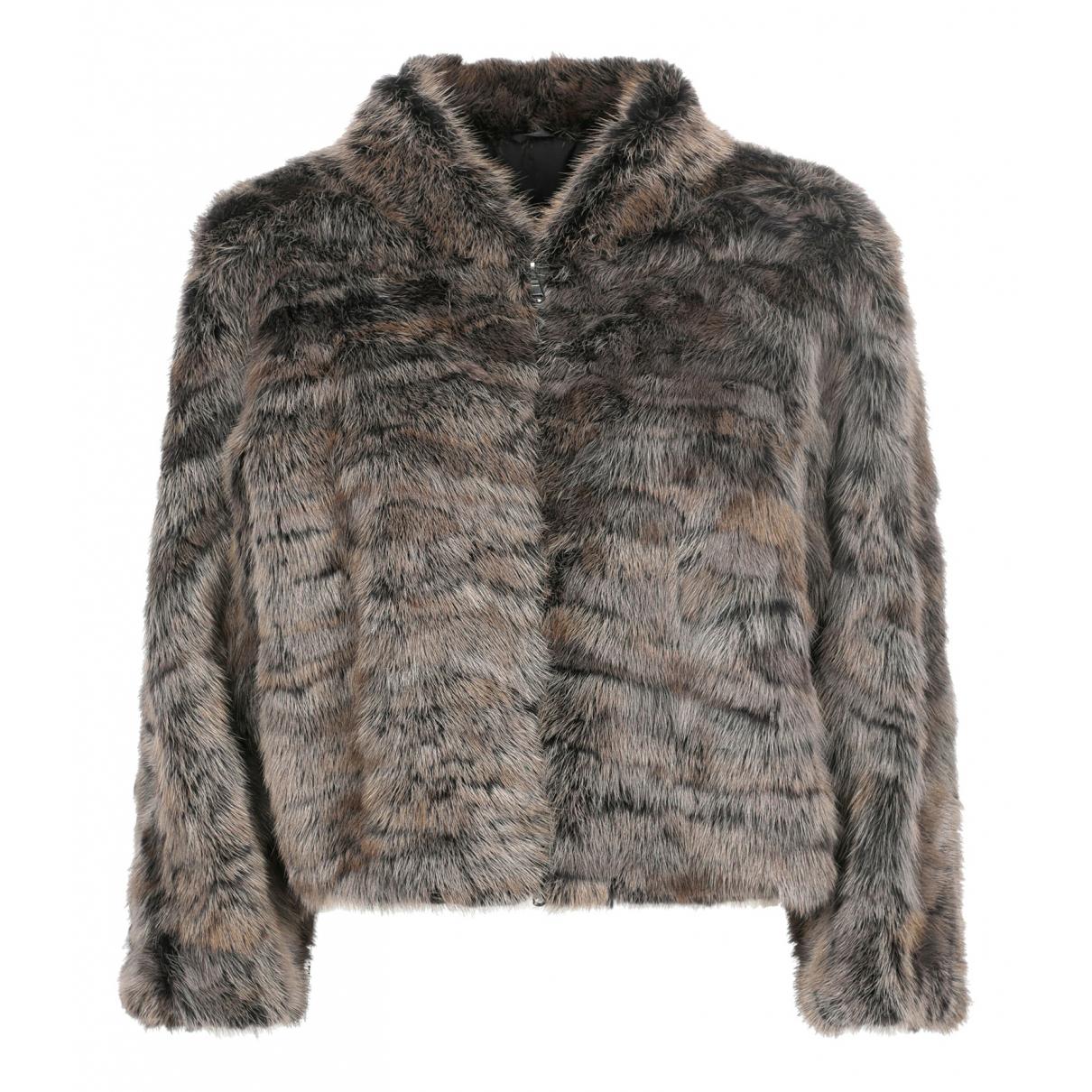 Brunello Cucinelli - Manteau   pour femme en fourrure - gris
