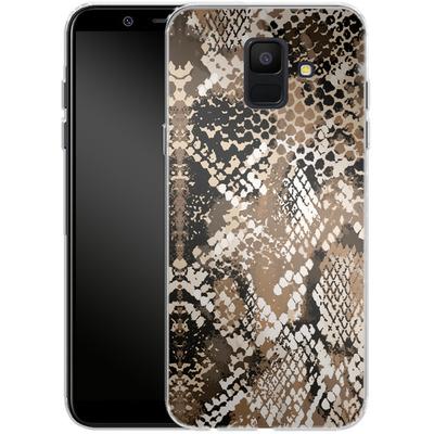 Samsung Galaxy A6 Silikon Handyhuelle - Snakeskin von caseable Designs