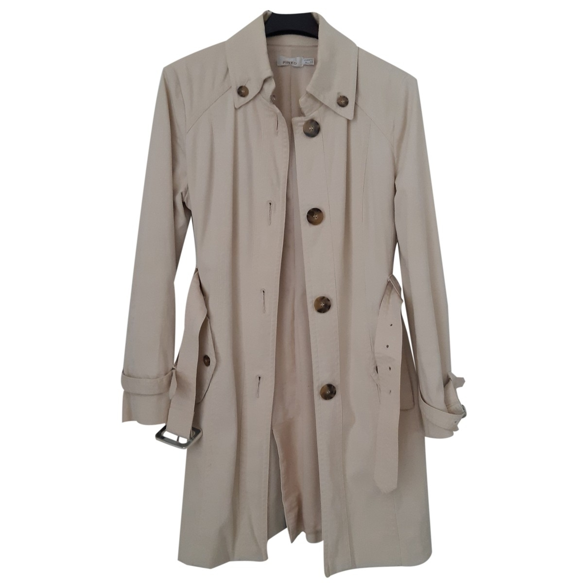 Pinko \N Beige Cotton Trench coat for Women 44 IT