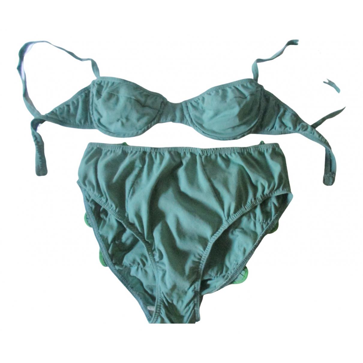 Laura Urbinati \N Green Cotton Swimwear for Women 42 IT