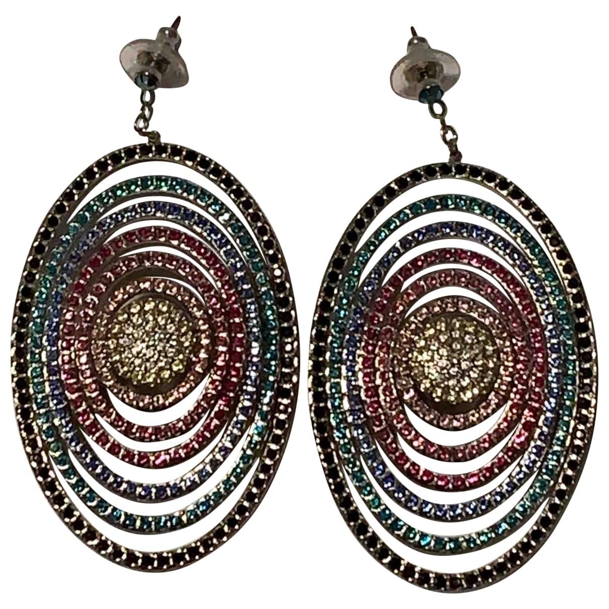 Swarovski - Boucles d'oreilles   pour femme en cristal - multicolore