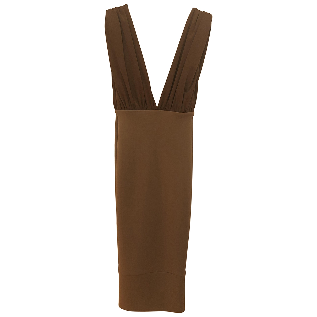 Non Signé / Unsigned \N Brown dress for Women 4 UK