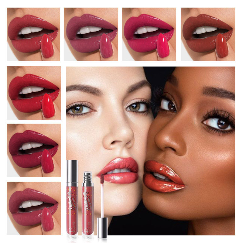 12 Colors Liquid Moisturizing Lip Gloss Colorful Long-lasting Waterproof Non-fading Liquid Lipstick