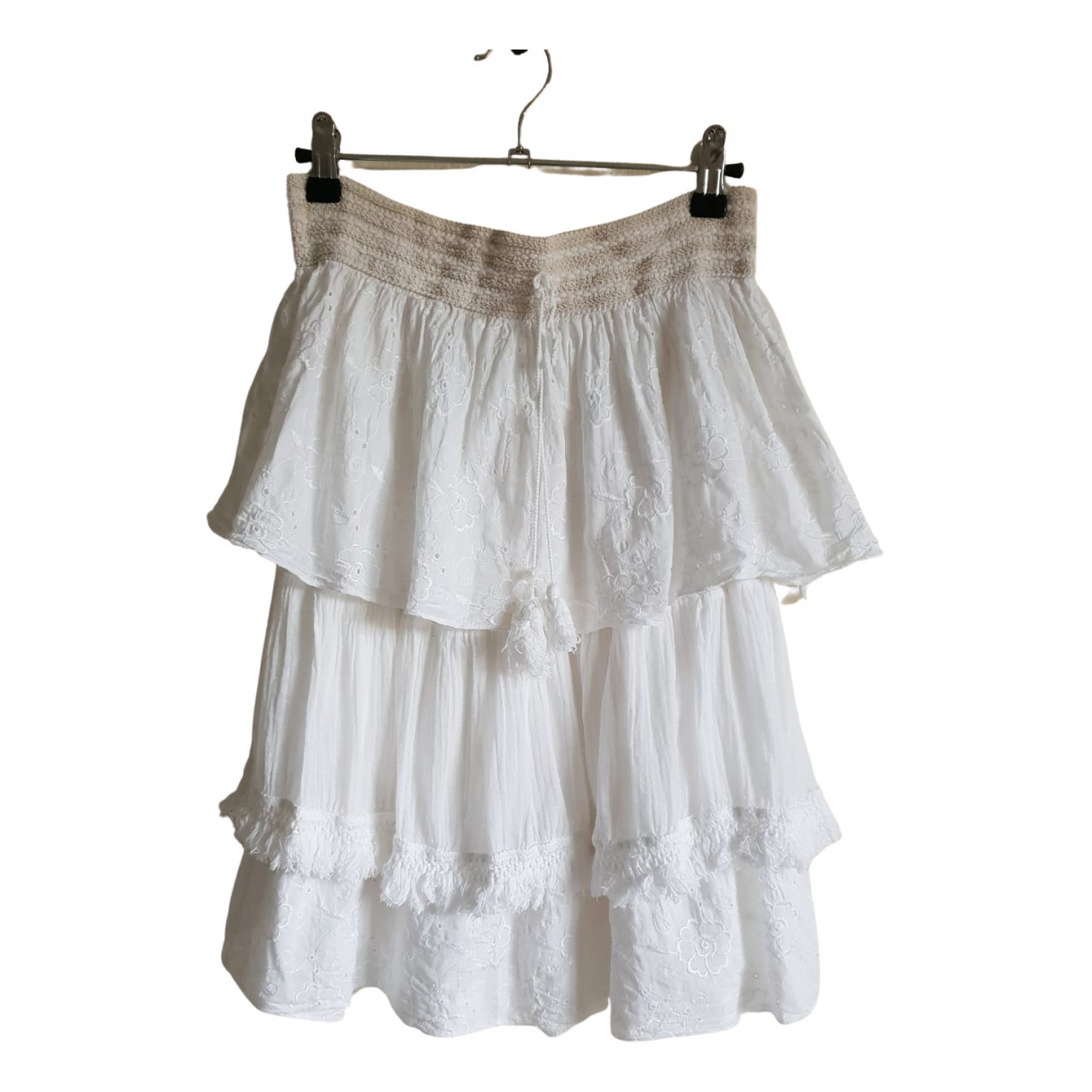 Non Signé / Unsigned \N White Cotton skirt for Women 36 FR