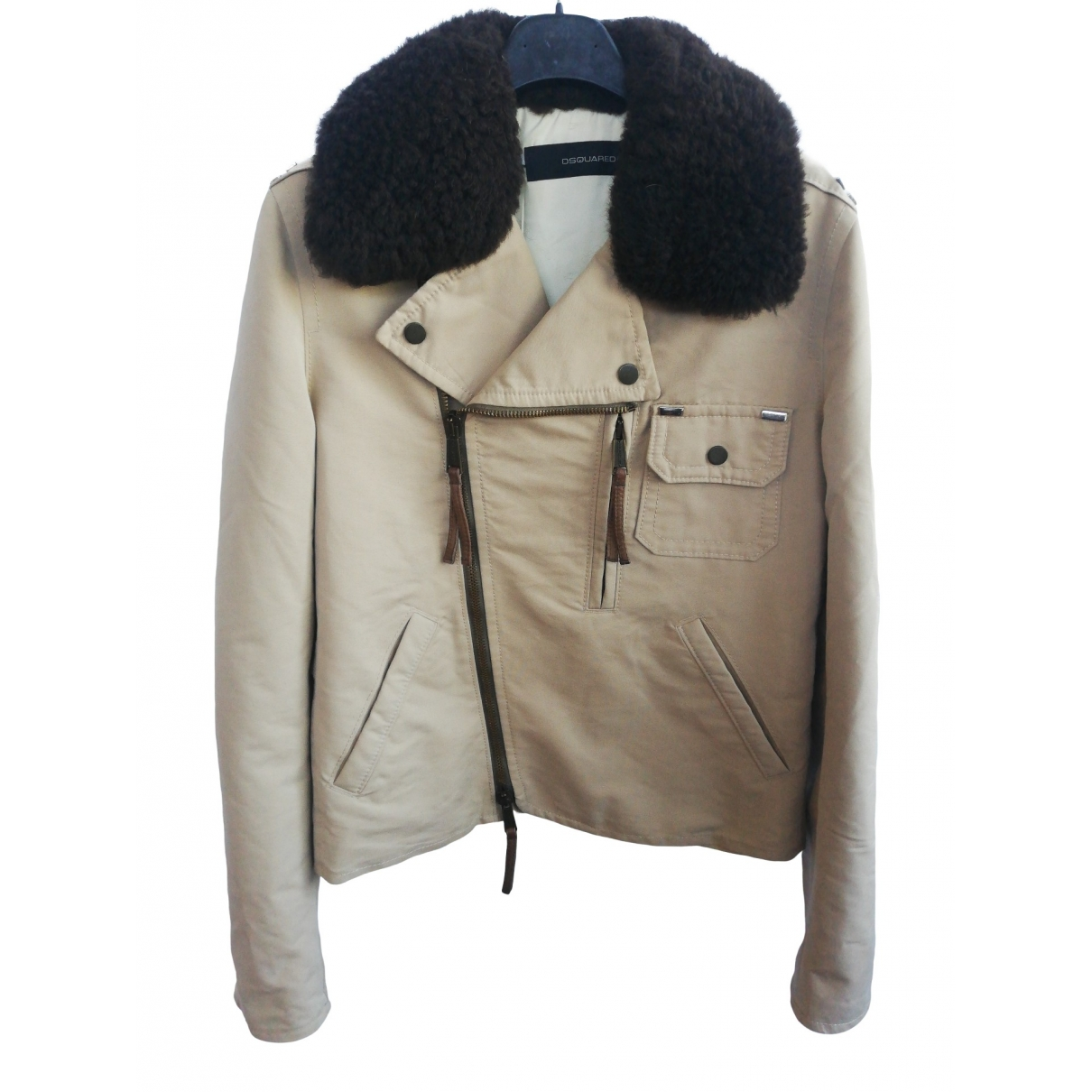 Dsquared2 \N Beige Cotton jacket for Women 48 IT
