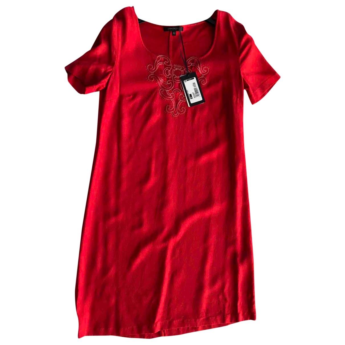 Patrizia Pepe \N Kleid in  Rot Viskose
