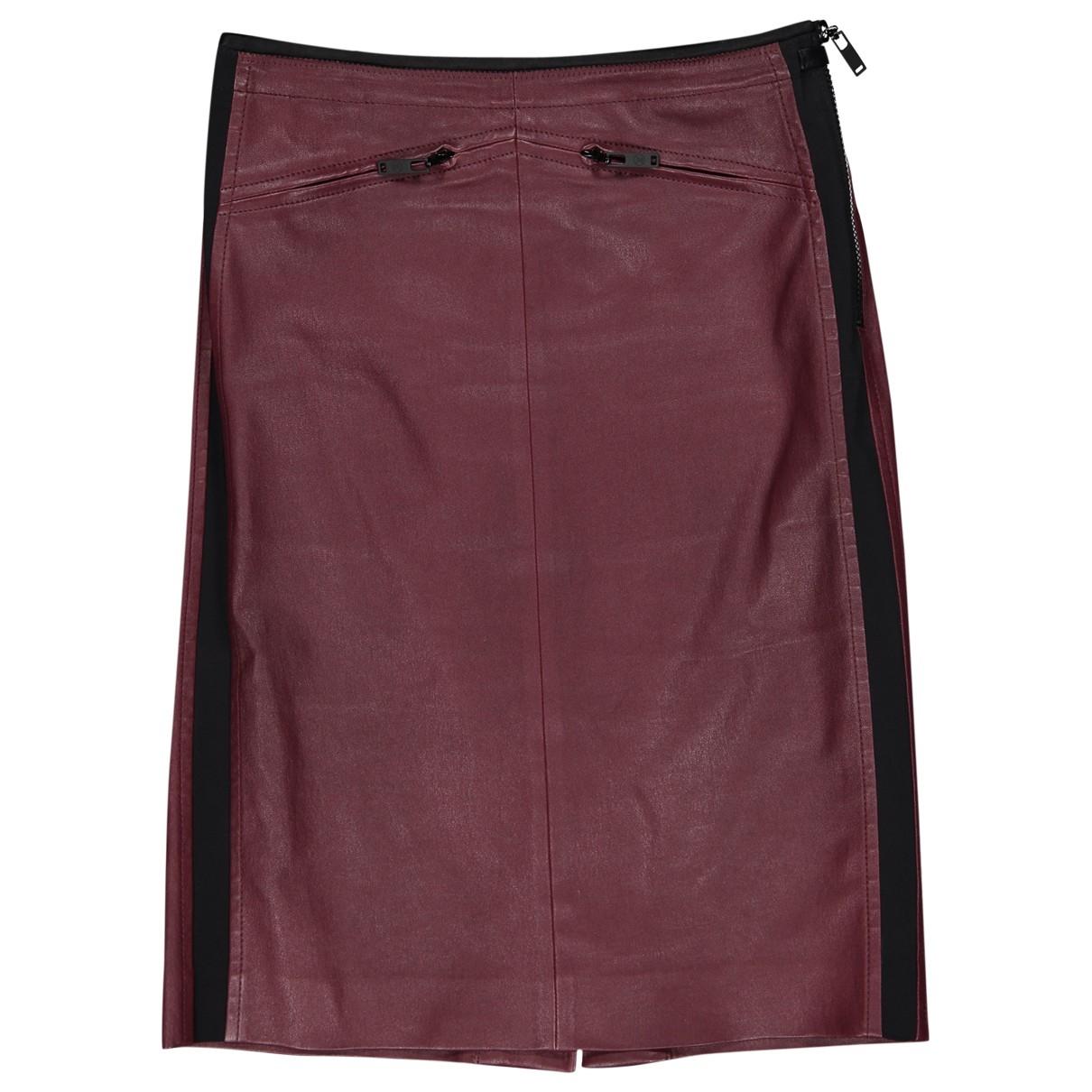 Louis Vuitton \N Burgundy Leather skirt for Women 38 FR