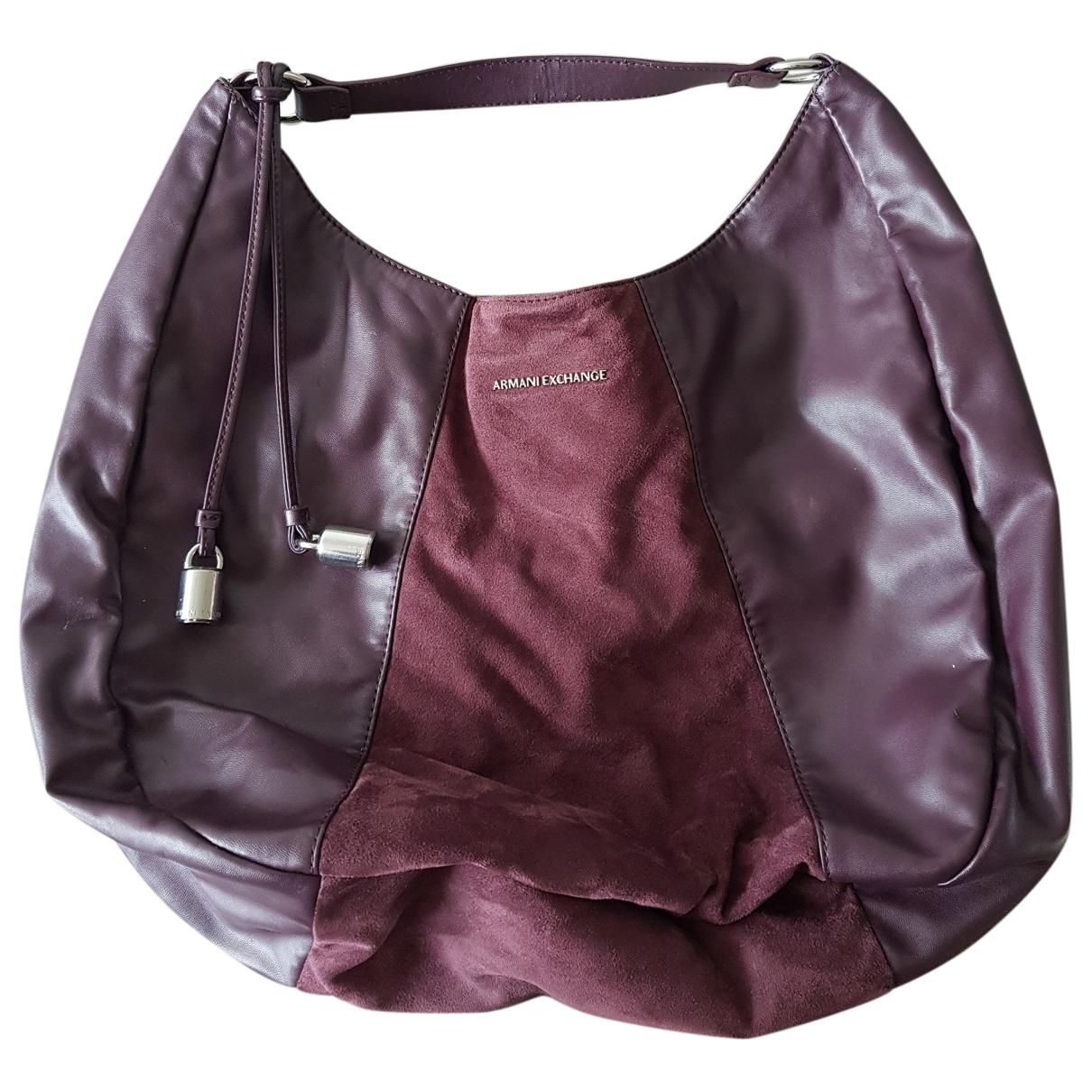 Emporio Armani \N Burgundy handbag for Women \N