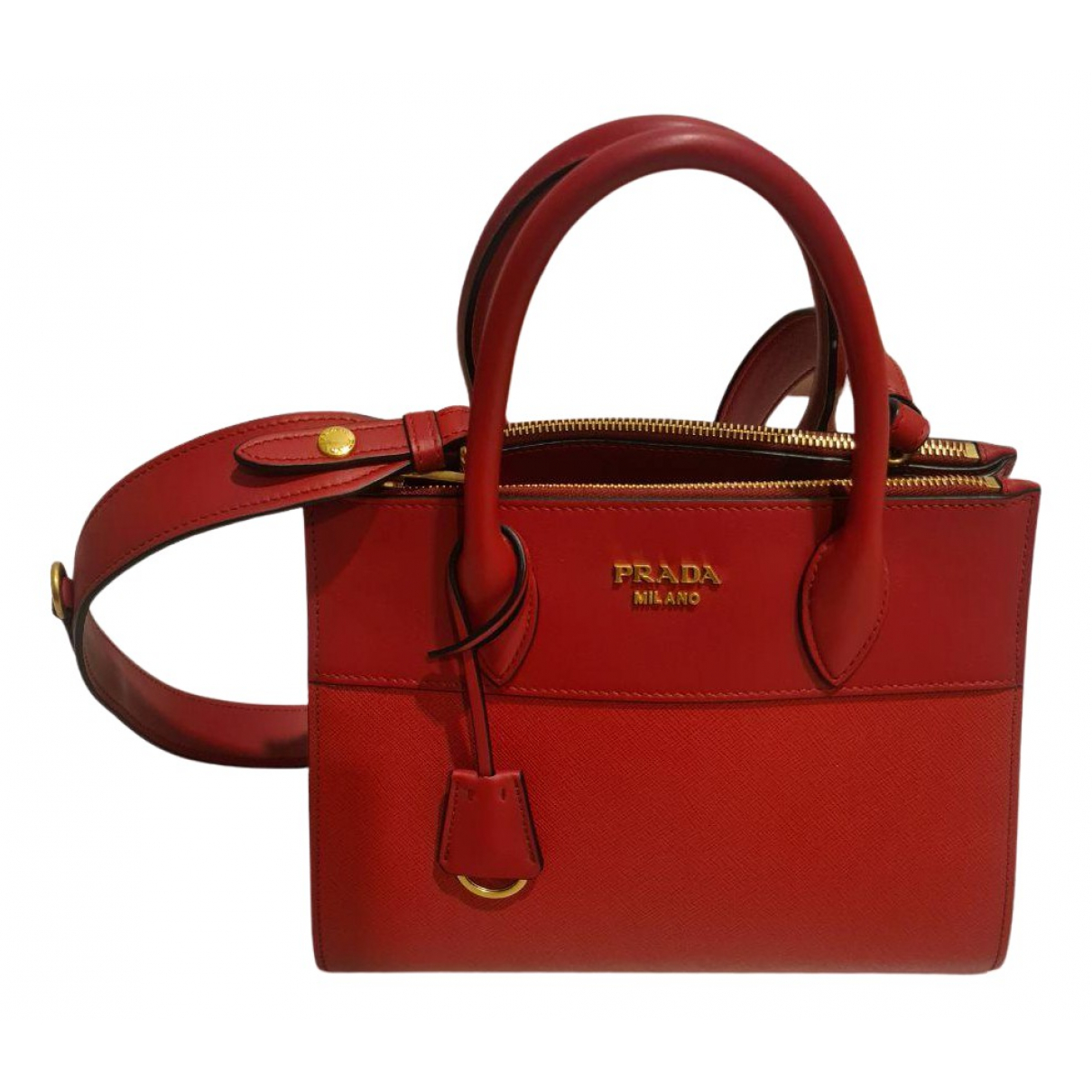 Prada saffiano  Red Leather handbag for Women N
