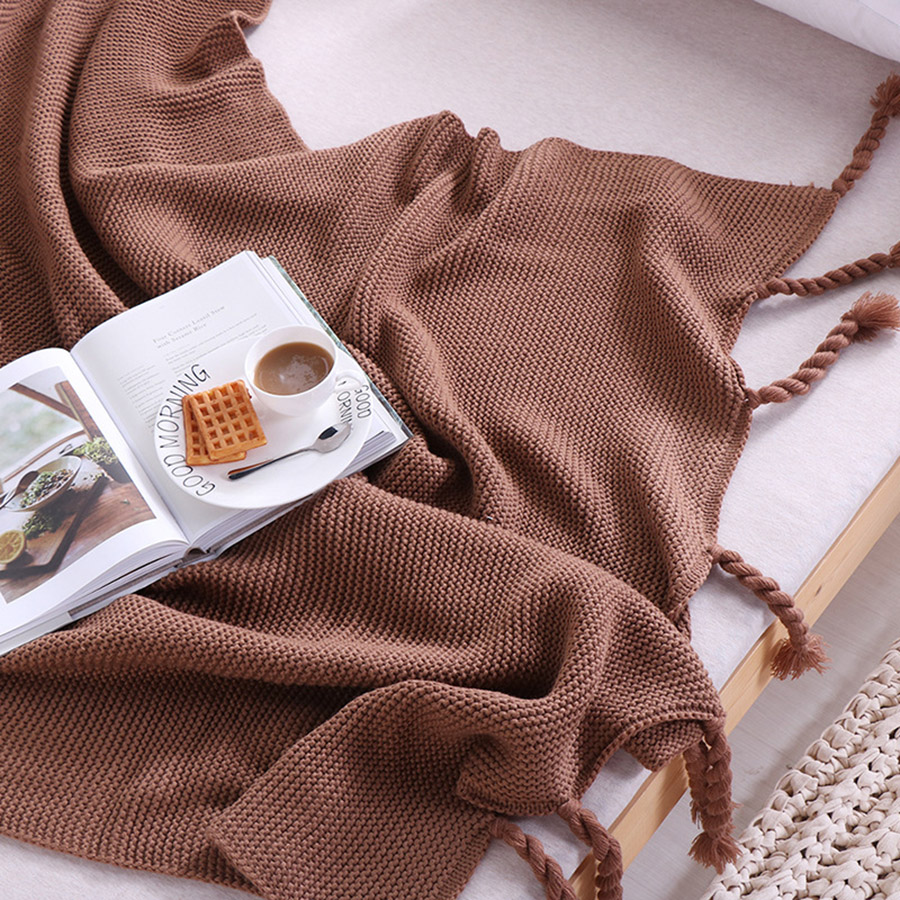 Plain Pattern Rectangle Shape Acrylic Material Hand Wash Cleaning Thread Blanket