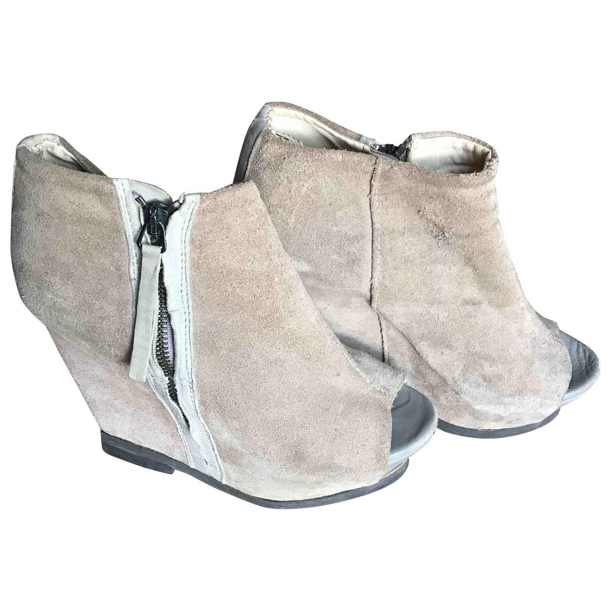 Zara \N Pumps in  Grau Leder