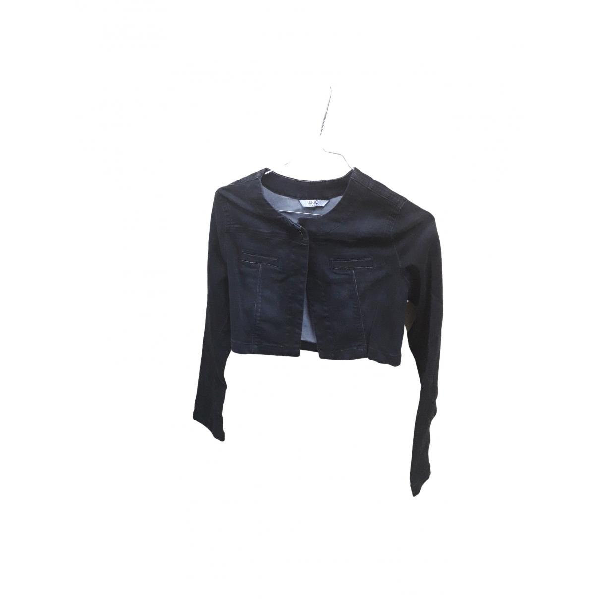 Liu.jo \N Black Cotton Leather jacket for Women 42 IT