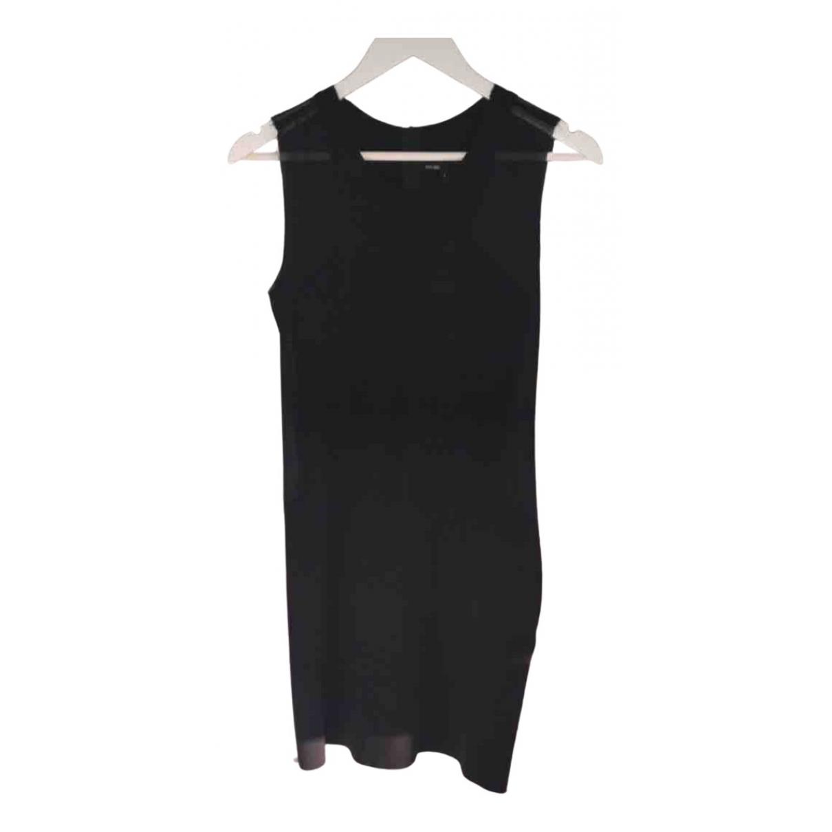Maje - Robe   pour femme en coton - elasthane - noir