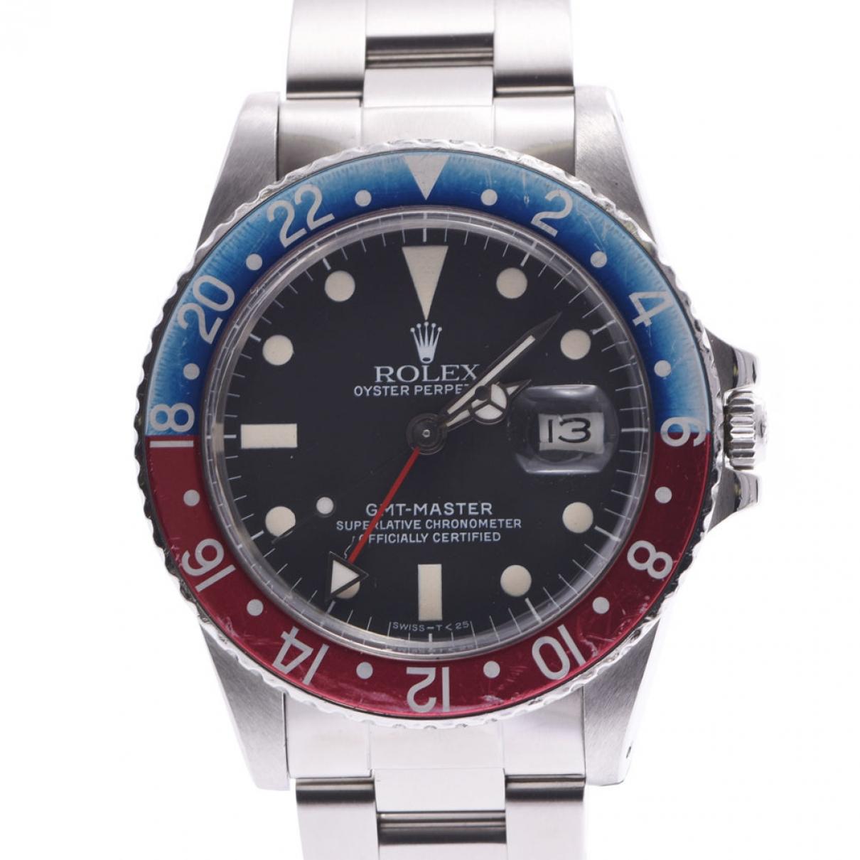 Rolex GMT Master Uhr in  Silber Stahl