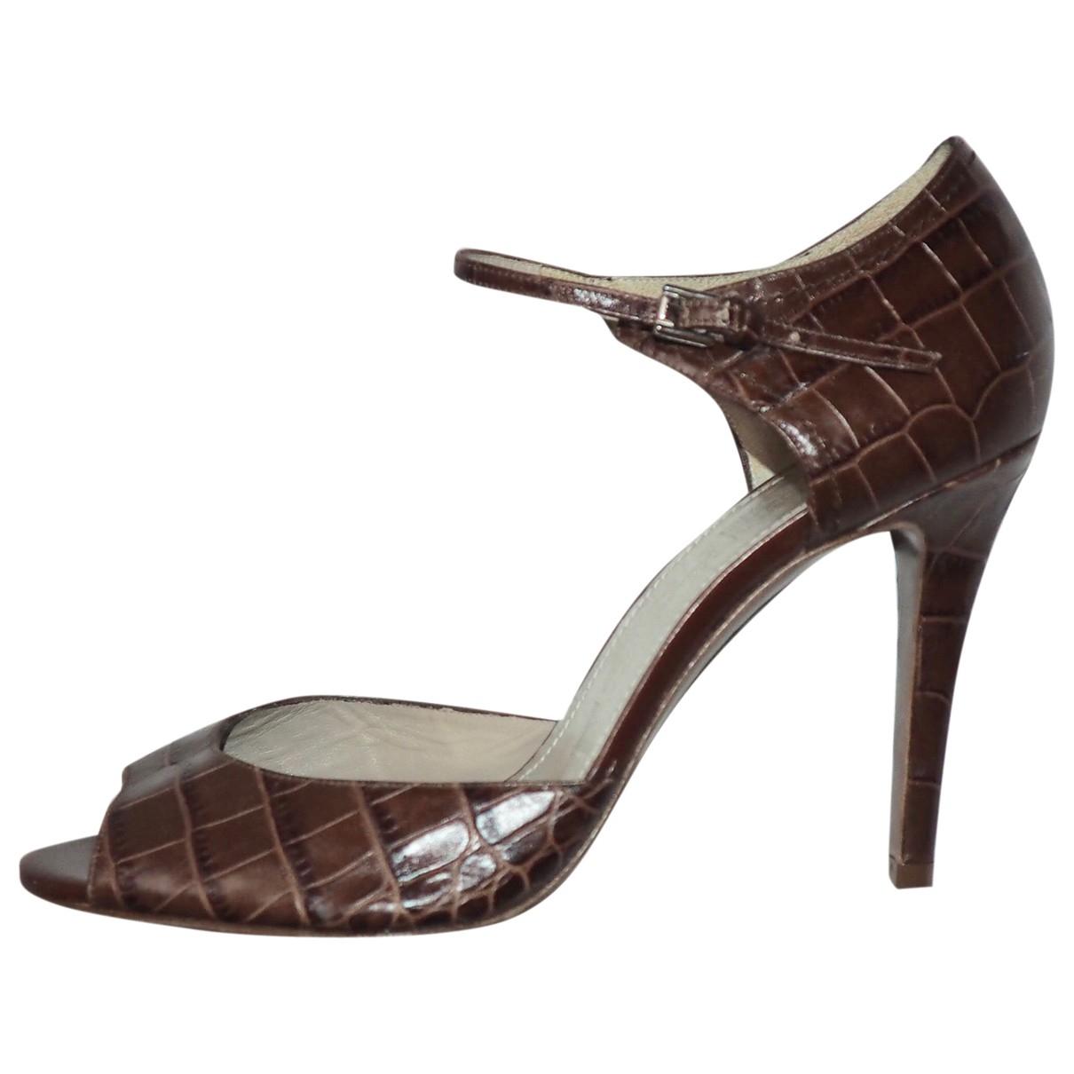 Paule Ka \N Brown Leather Heels for Women 40 EU