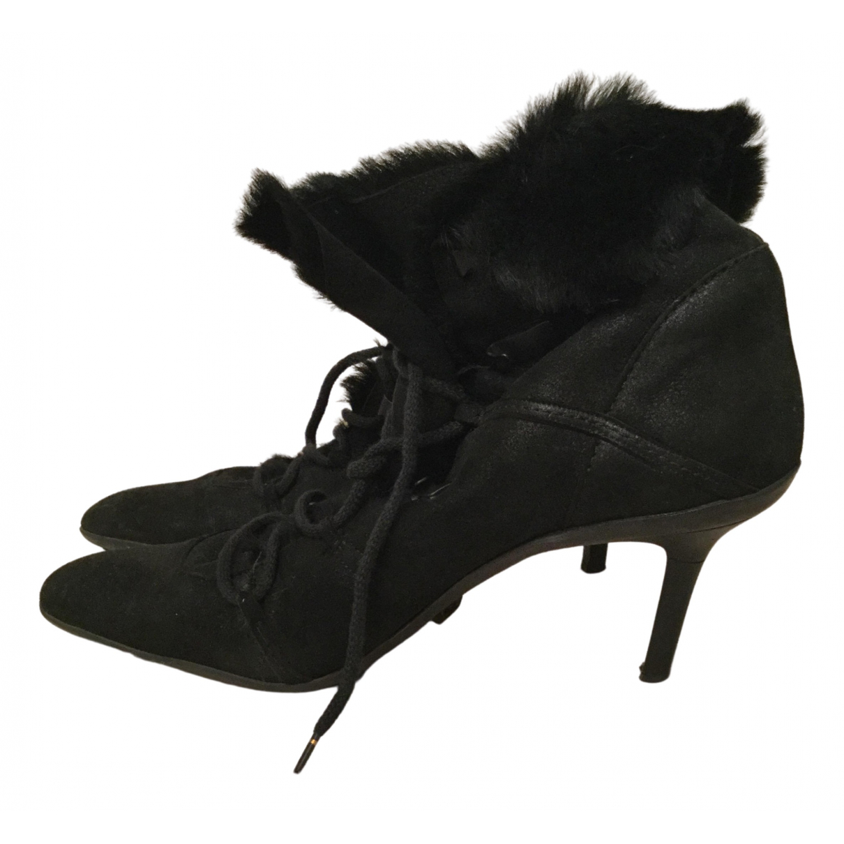 Gucci N Black Shearling Ankle boots for Women 40 IT