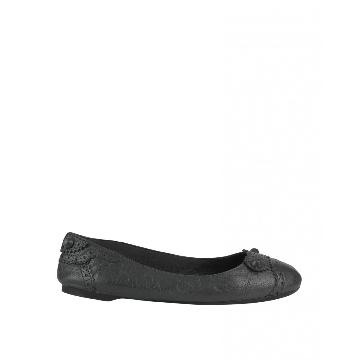 Balenciaga \N Grey Leather Ballet flats for Women 3.5 UK