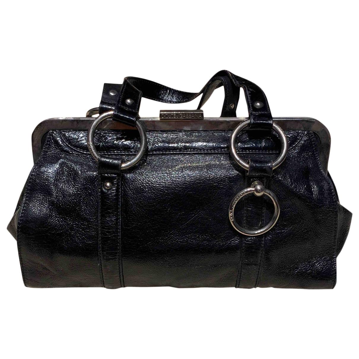 Dolce & Gabbana \N Handtasche in  Schwarz Lackleder