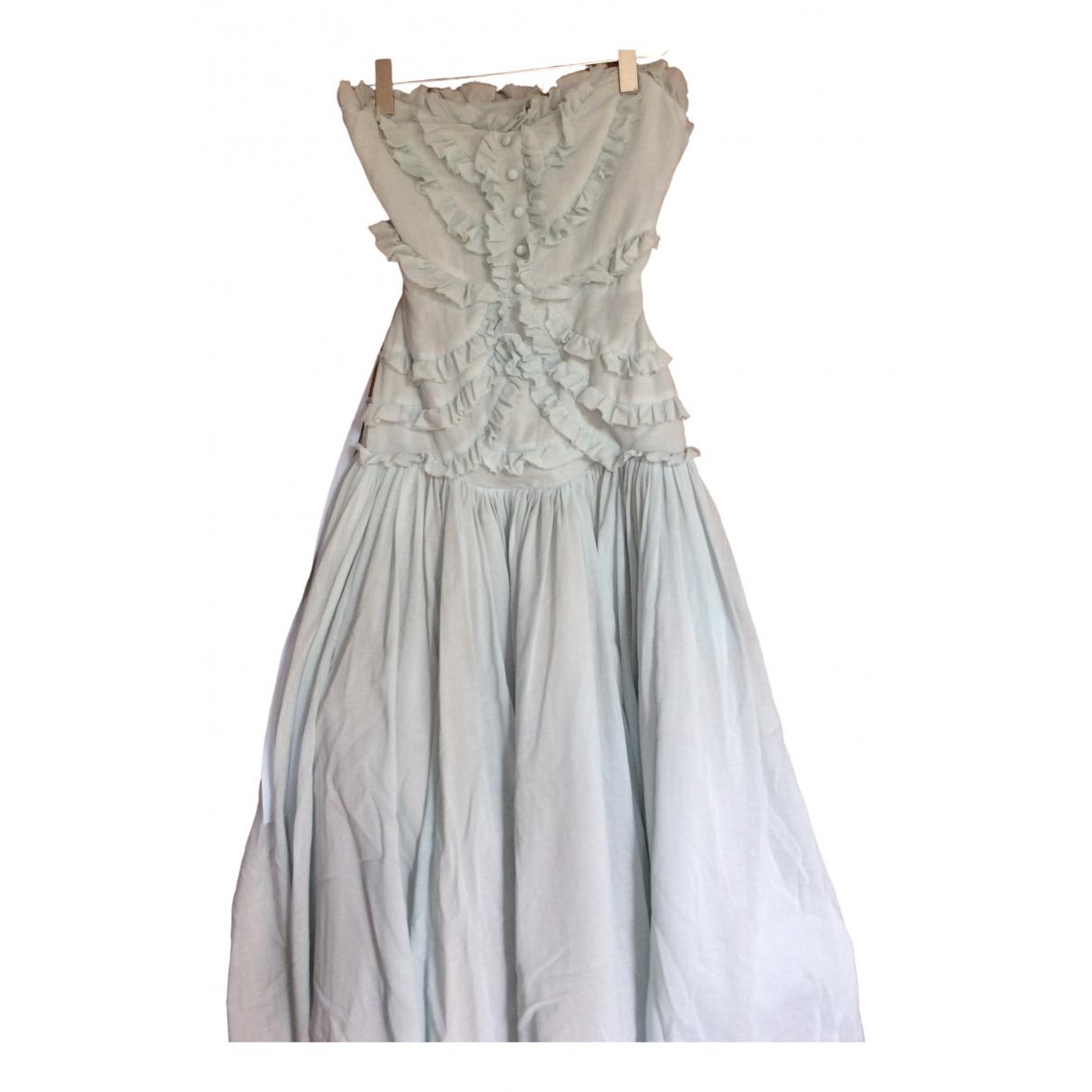 Peter Som \N Kleid in  Blau Baumwolle