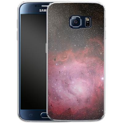 Samsung Galaxy S6 Silikon Handyhuelle - Pink Nebula von caseable Designs