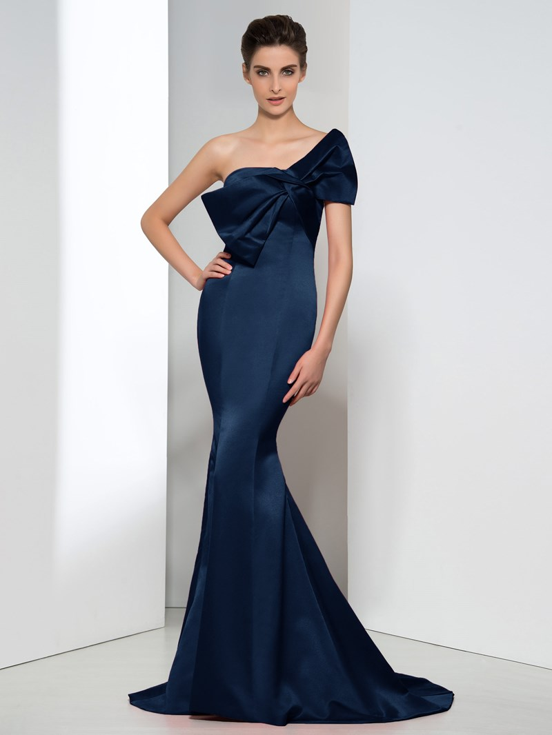 Ericdress Mermaid Strapless Bowknot Evening Dress