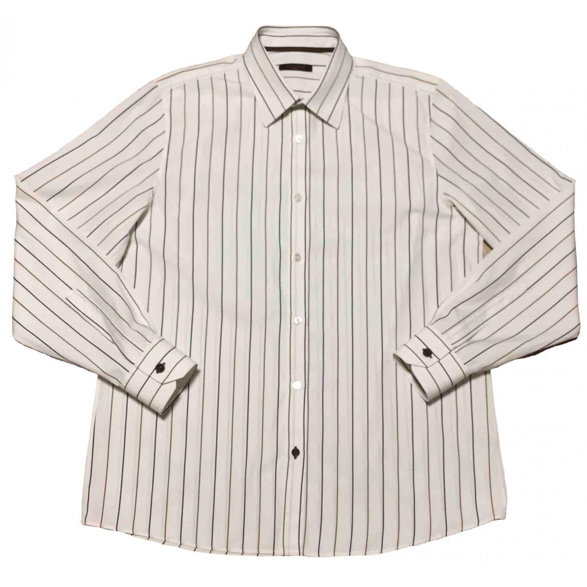 Louis Vuitton - Chemises   pour homme en coton - blanc