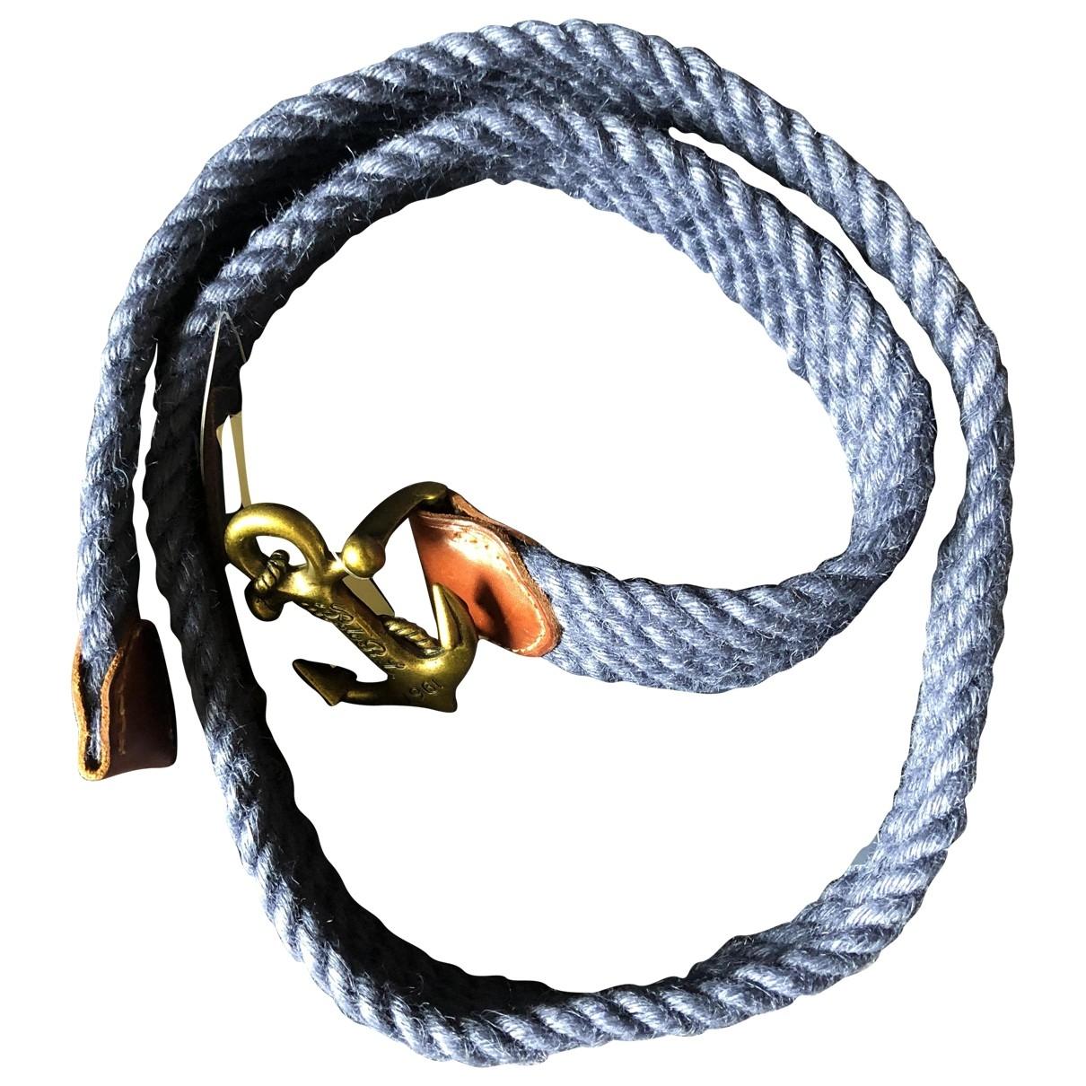 Polo Ralph Lauren \N Guertel in  Marine Leinen