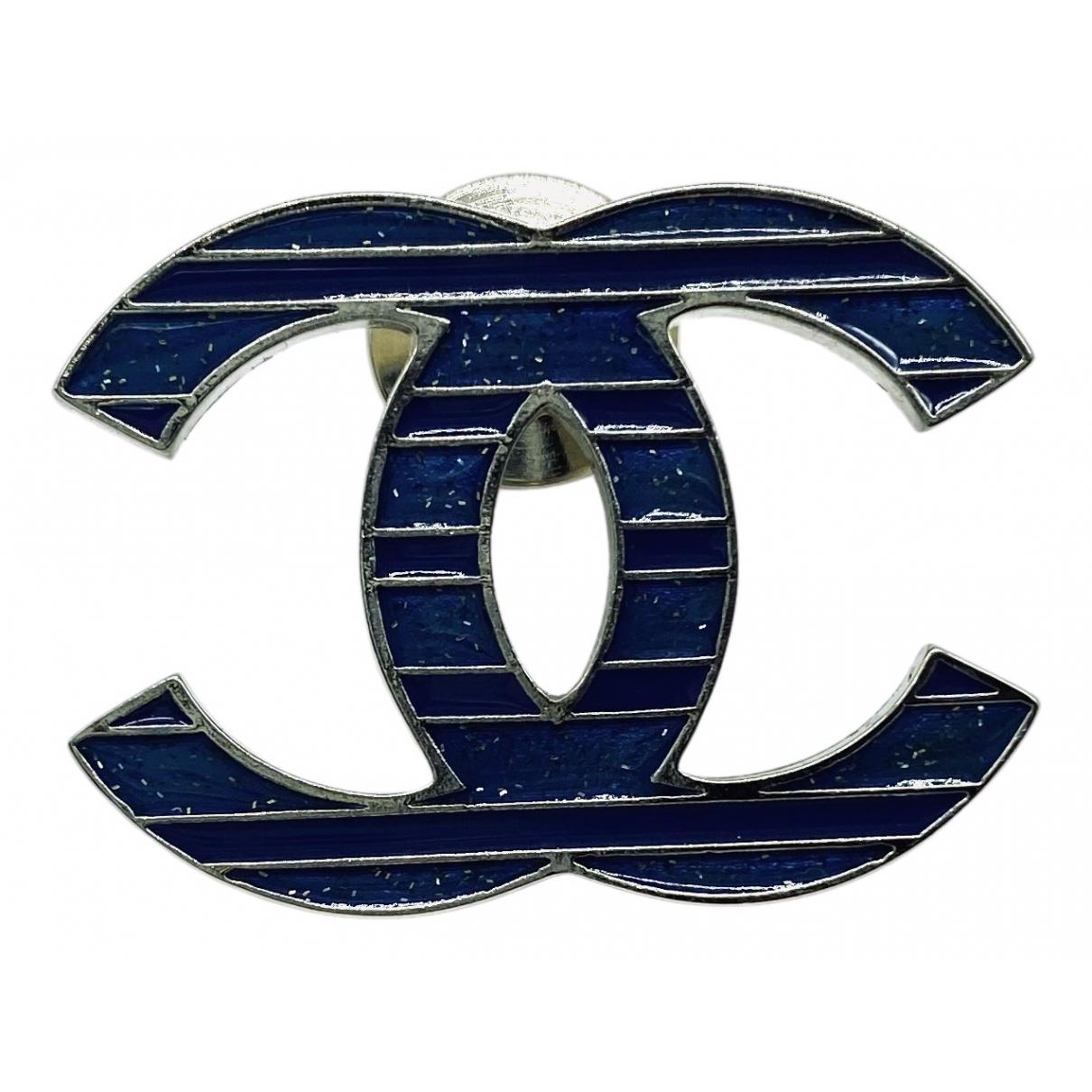 Chanel \N Brosche in  Schwarz Metall