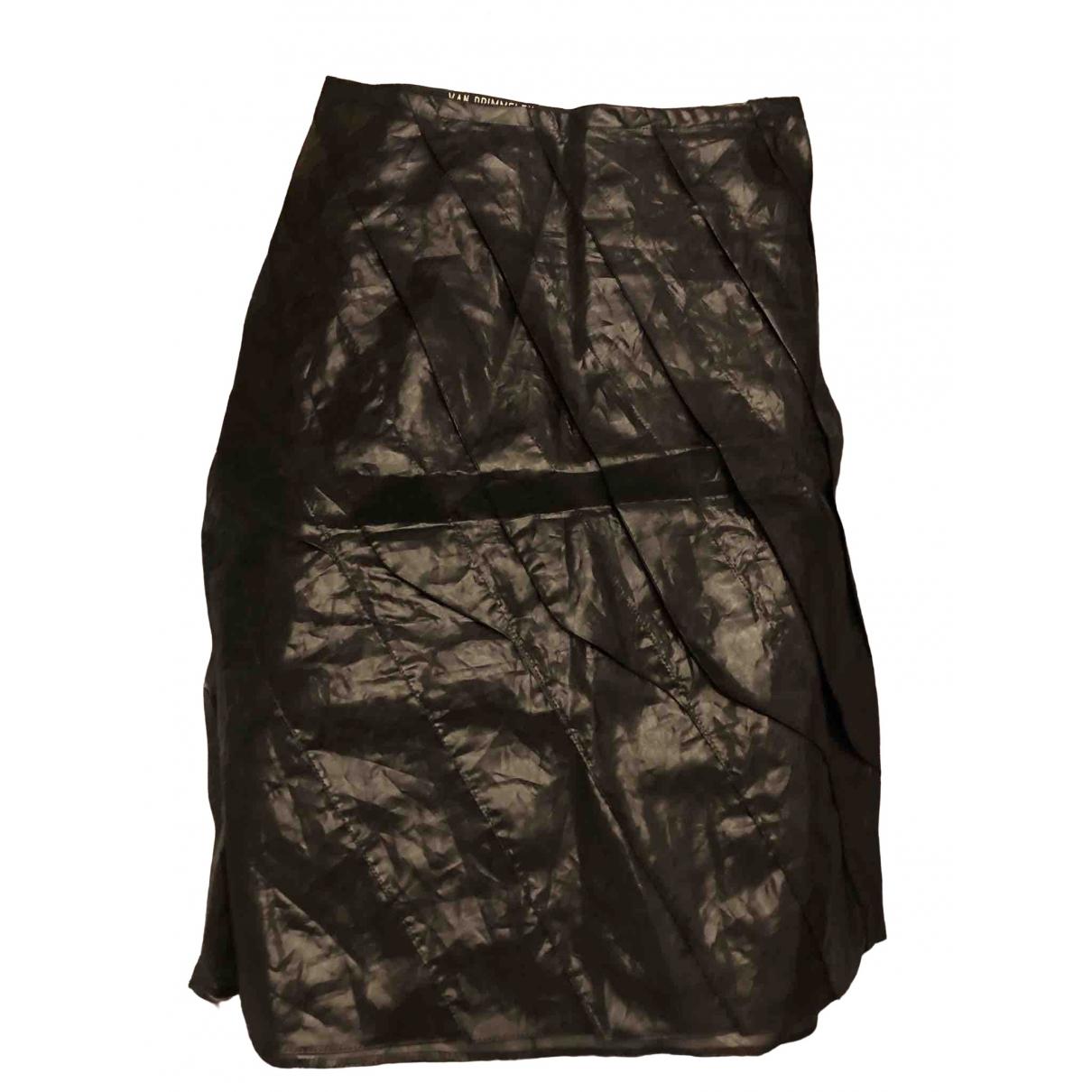 - Jupe   pour femme en caoutchouc - noir