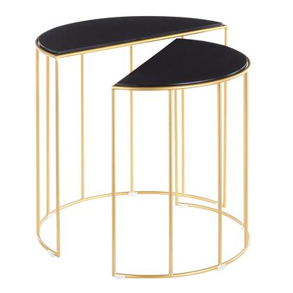 TB2-CANARY AUBM Canary Contemporary Nesting Table in Gold with Black