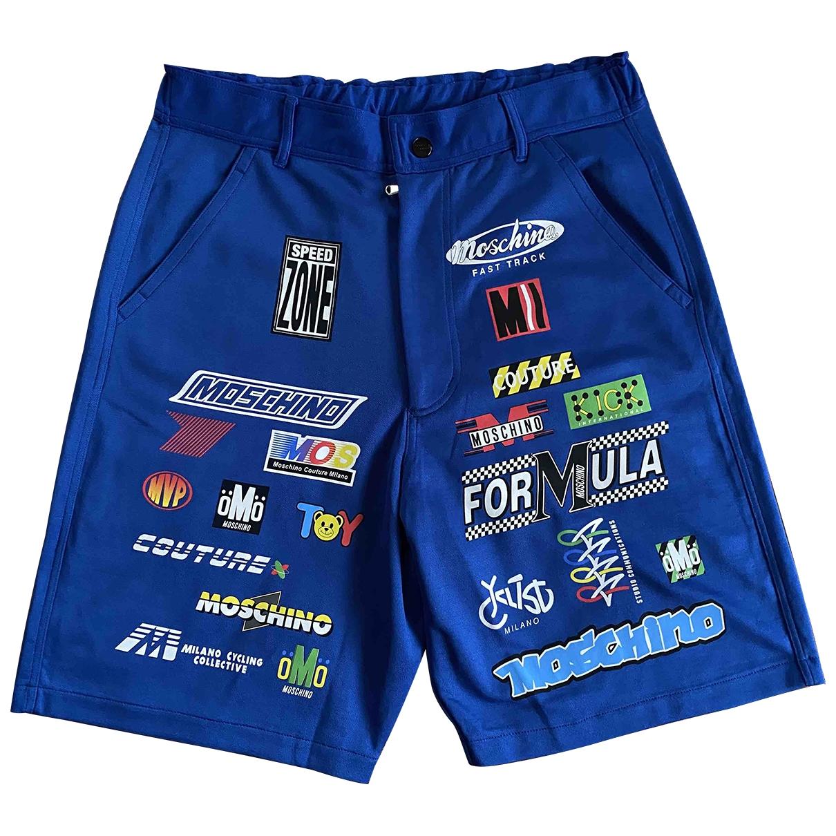 Moschino \N Shorts in  Blau Polyester