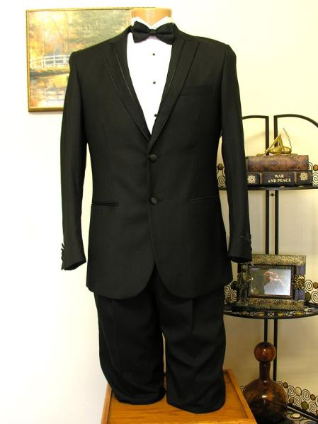 Black 2 Button Groove LapelTuxedo jacket and Pant Combination