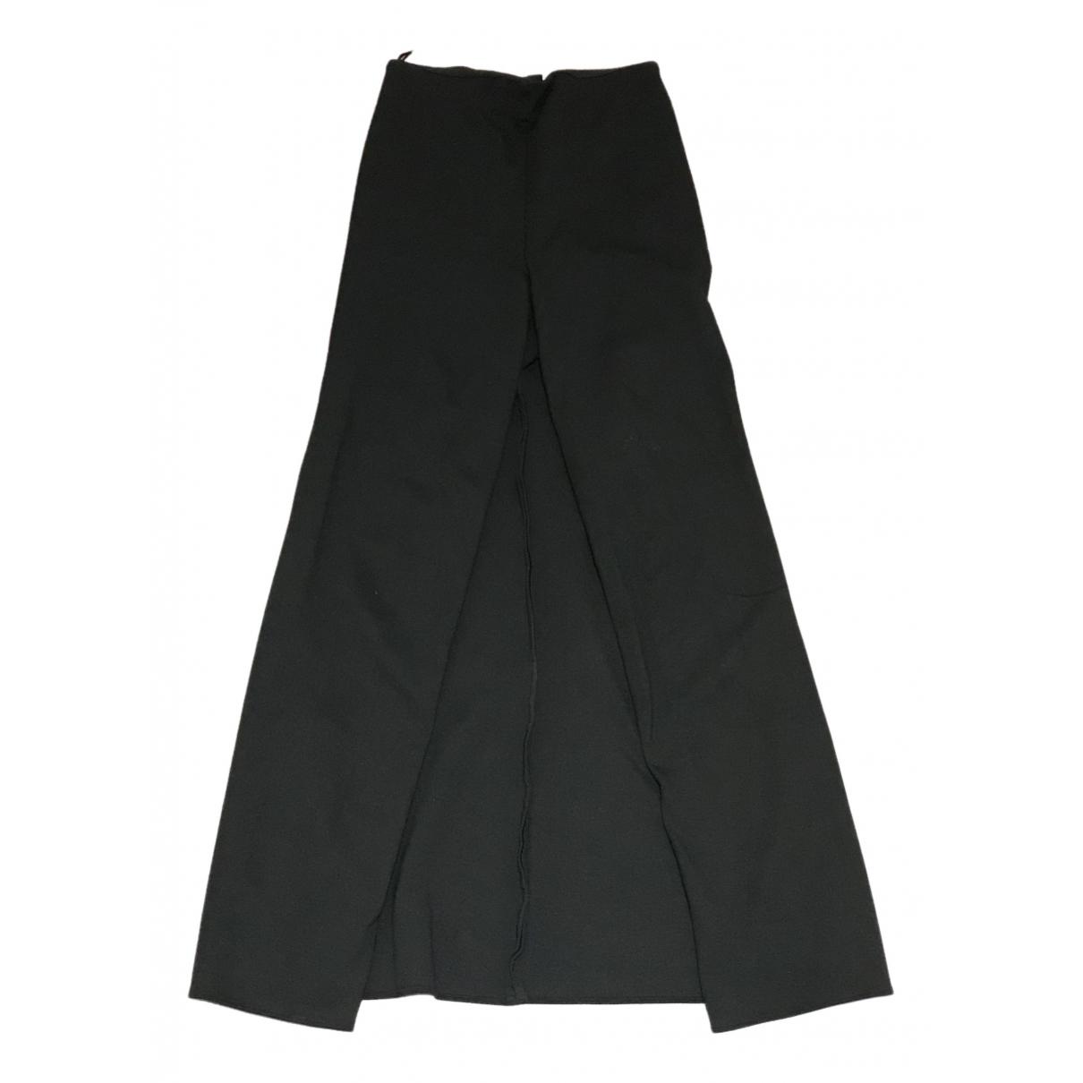 Pantalon en Viscosa Negro Maison Martin Margiela