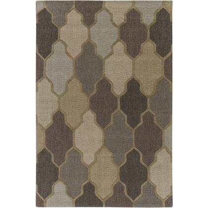 AWAH2037-69 6' x 9' Rug  in Khaki and Camel and Medium Gray and Light Gray and Taupe and