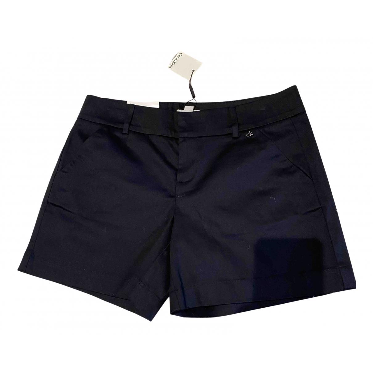 Calvin Klein - Short   pour femme en coton - noir