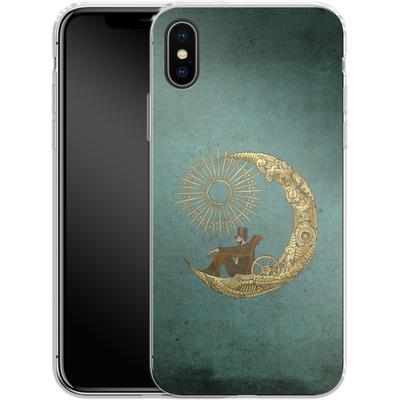 Apple iPhone X Silikon Handyhuelle - Moon Travel von Eric Fan