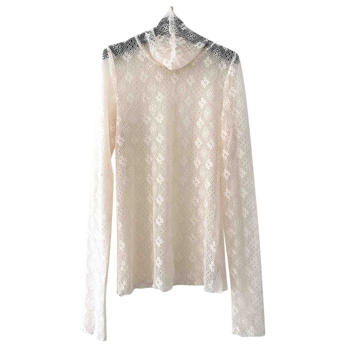Free People \N Top in  Ecru Spitze