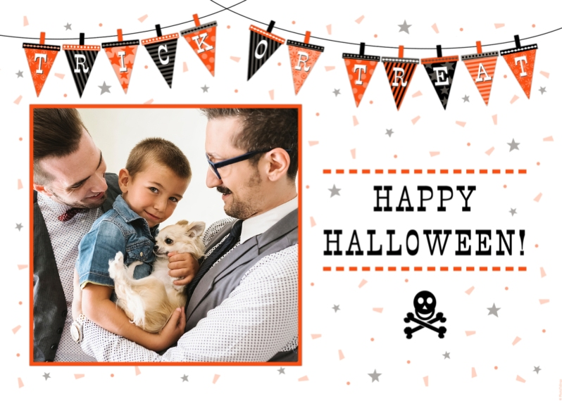 Halloween Photo Cards 5x7 Folded Cards, Premium Cardstock 120lb, Card & Stationery -Trick or Treat