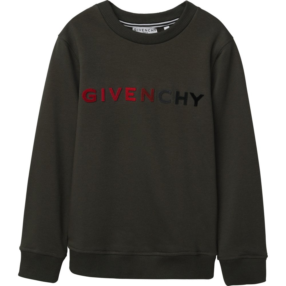 Givenchy Logo Sweater Colour: GREEN, Size: 6 YEARS
