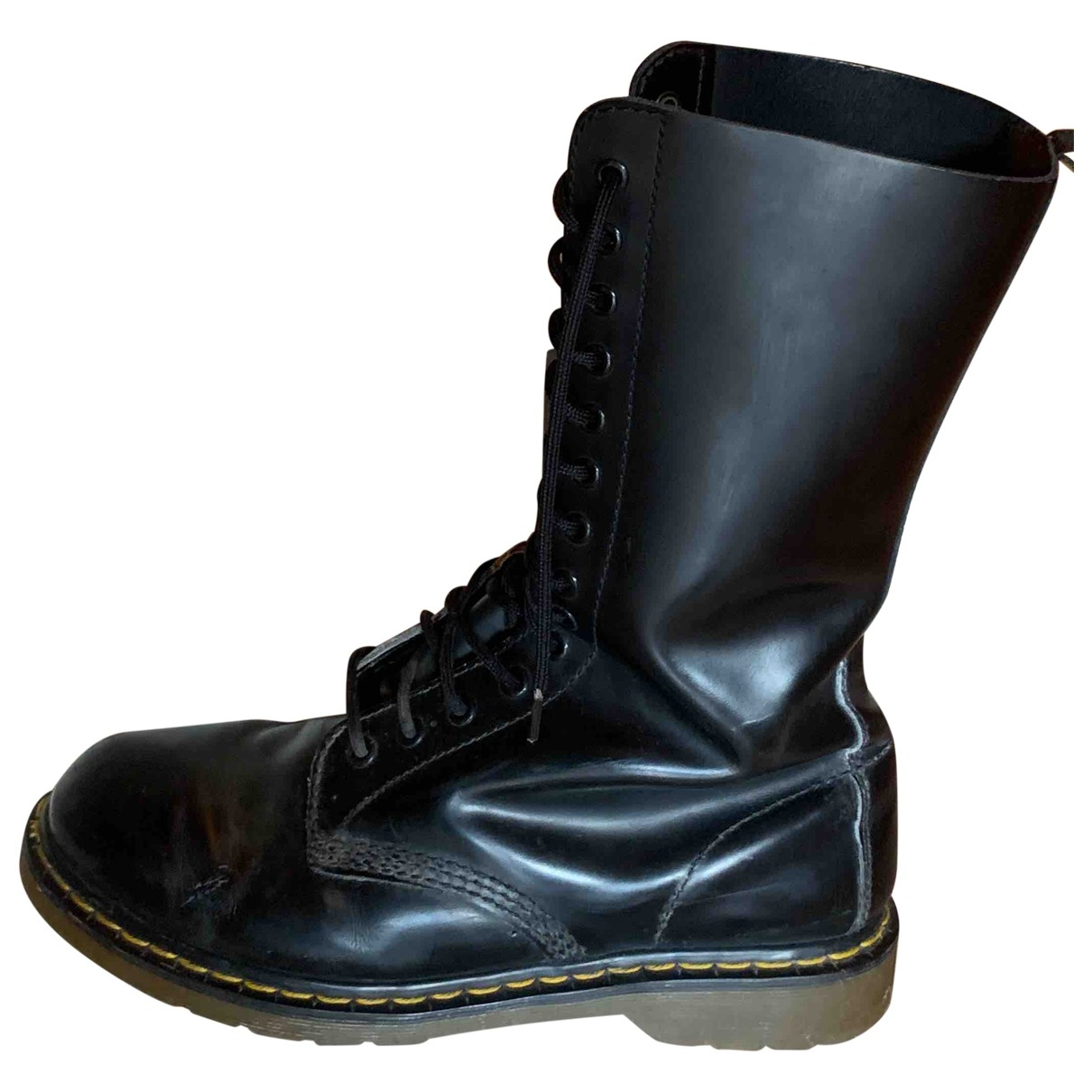 Dr. Martens \N Black Leather Boots for Men 44 EU