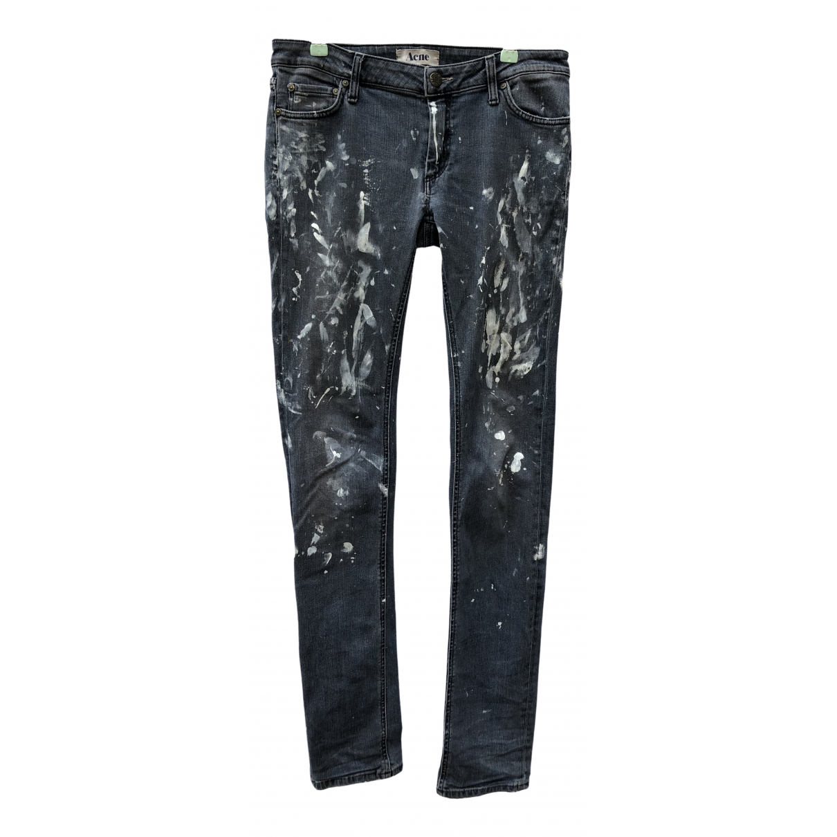 Acne Studios \N Anthracite Cotton - elasthane Jeans for Men 30 US