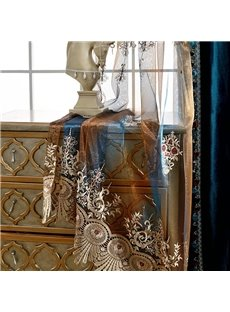 Noble Classic High Quality Milk Silk European Style Custom Sheer Curtain