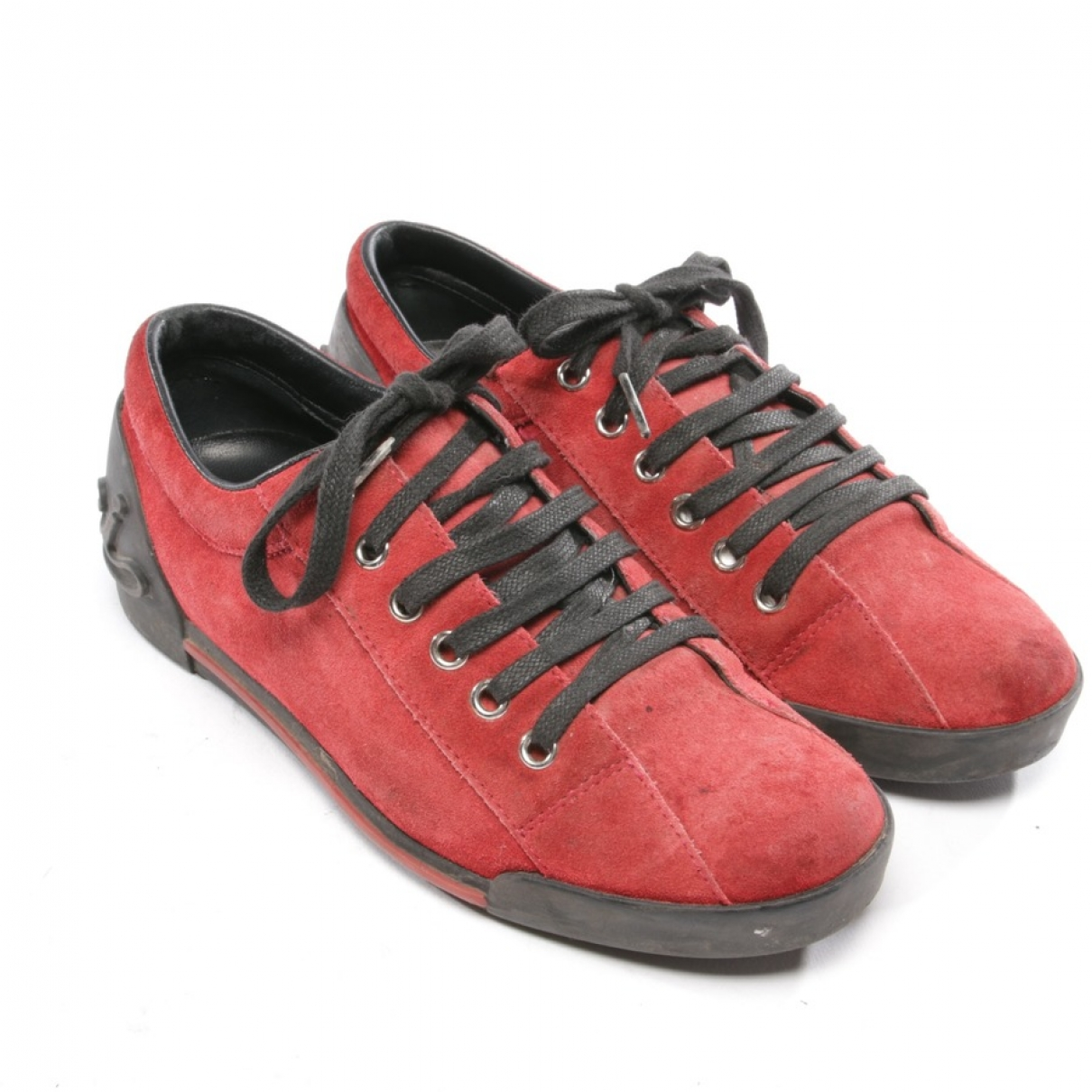 Gucci - Baskets   pour femme en suede - rouge