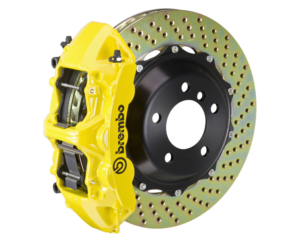 Brembo GT 380x32 2-Piece 6 Piston Yellow Drilled Front Big Brake Kit
