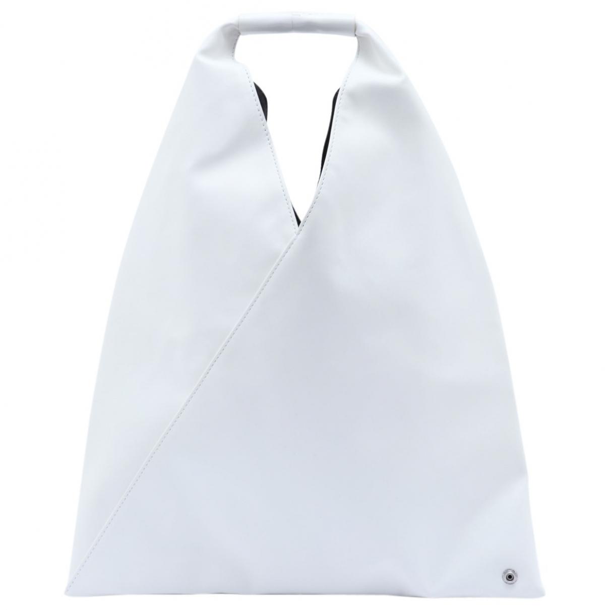 Non Signe / Unsigned \N Handtasche in  Weiss Leder