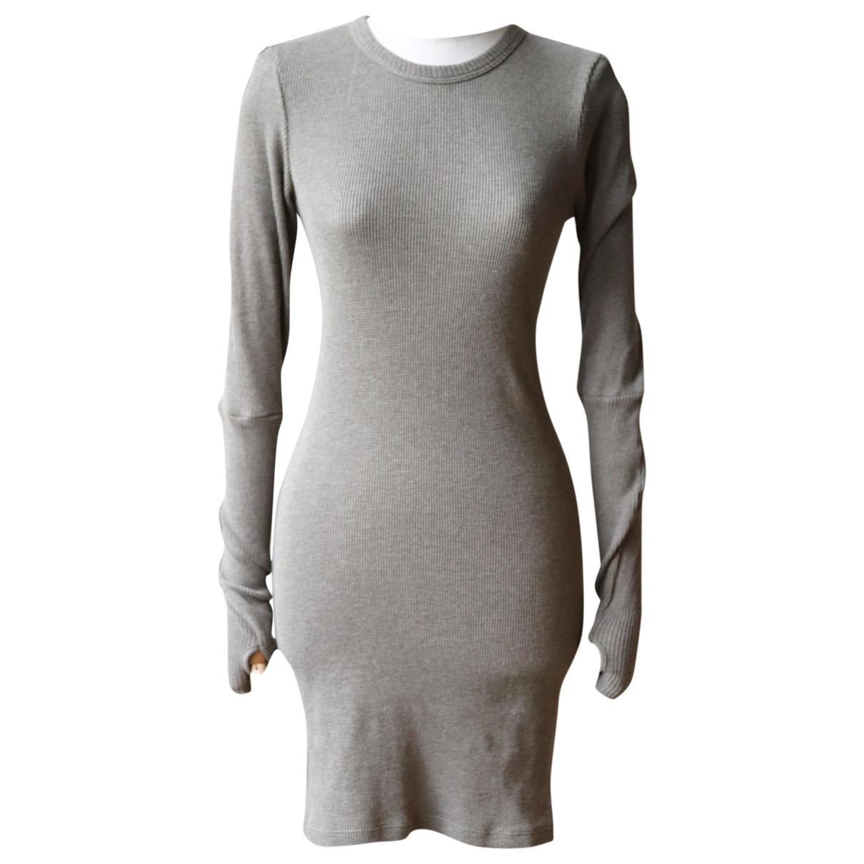 Enza Costa \N Kleid in  Gruen Baumwolle