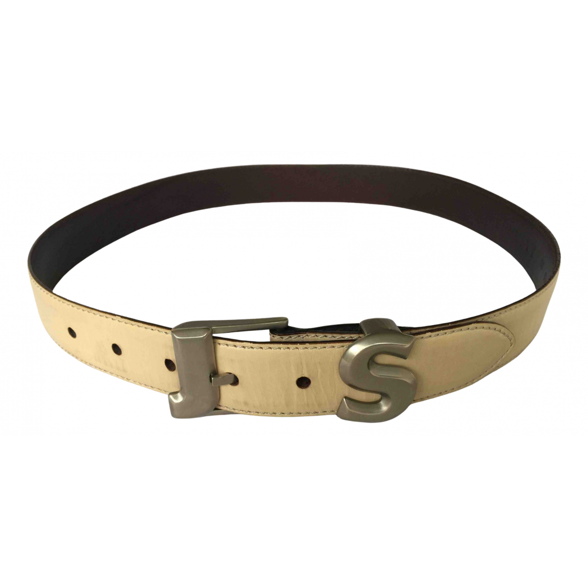 Jil Sander N Ecru Leather belt for Women 75 cm