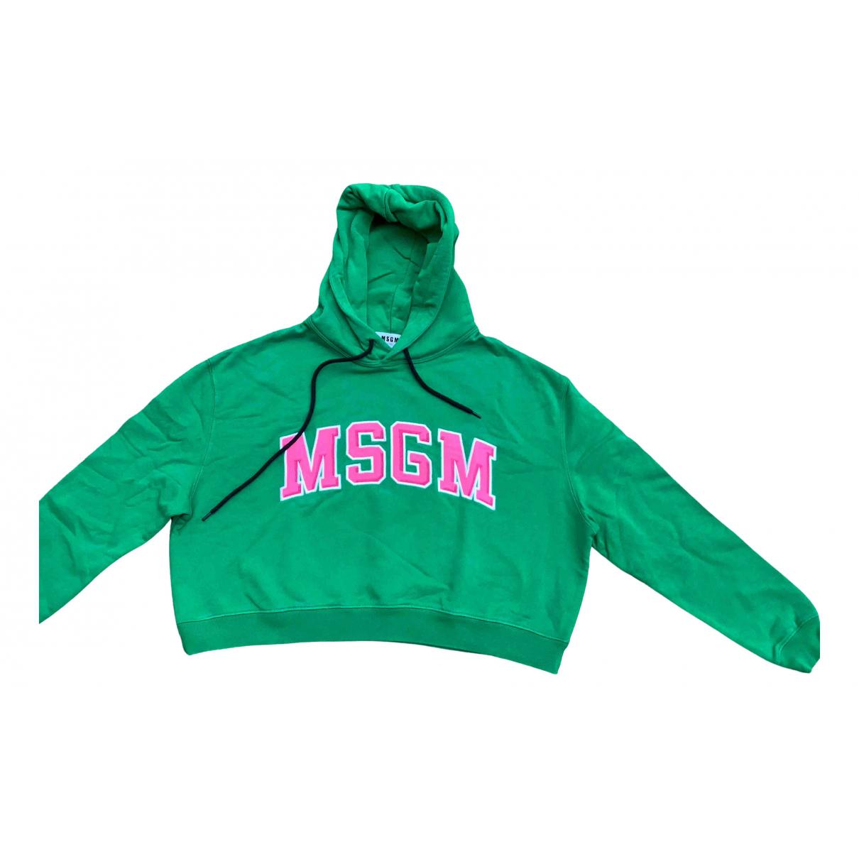 Msgm \N Pullover in  Gruen Baumwolle